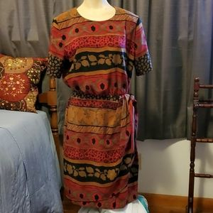 Sag Harbor animal/mixed media dress